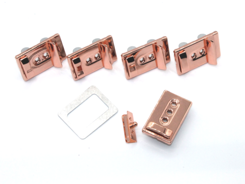 5 x 3-stufiges Leiterschloss rose gold