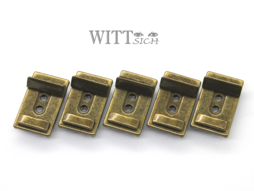 5 x 3-stufiges Leiterschloss antique brass